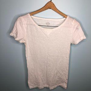 J Crew Size XS White T-shirt Vintage Cotton